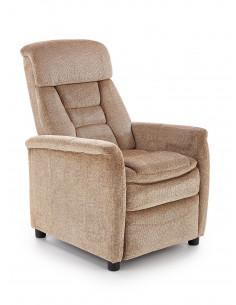 Hattie fotel wypoczynkowy rozkładany / tkanina - beżowy